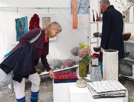 Textilmarkt Benediktbeuern, Stand Ruth Zenger