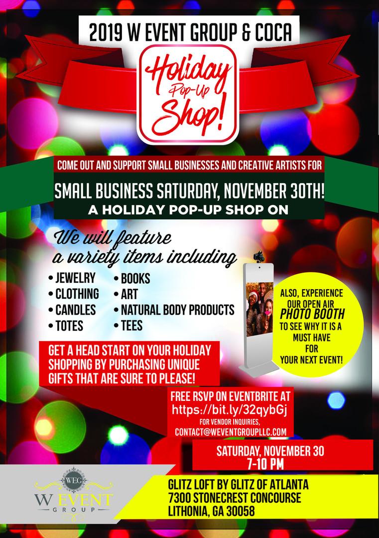 Small Business Saturday, November 30, 2019   7-10 PM   Lithonia, GA