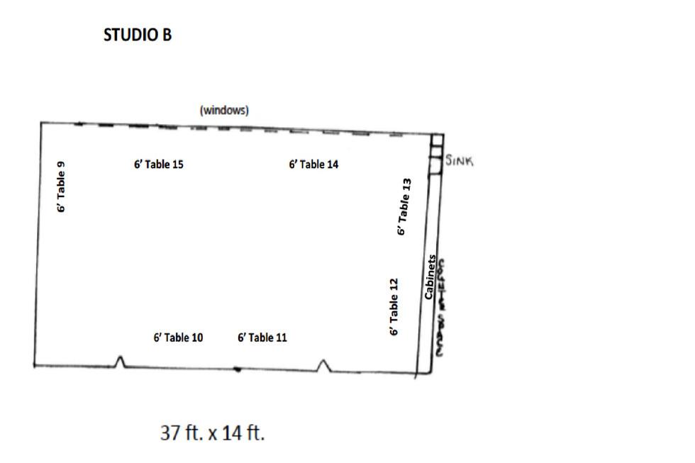 Studio B layout