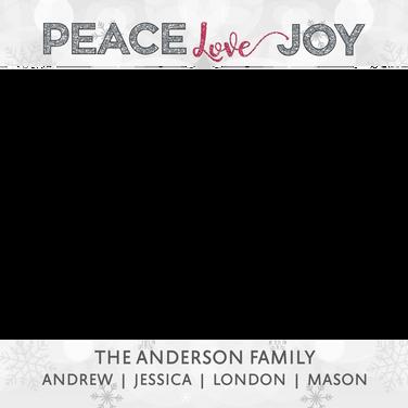 Peace Love Joy Photo Frame