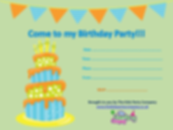 kids childrens boys girls baby toddler birthday party invitation