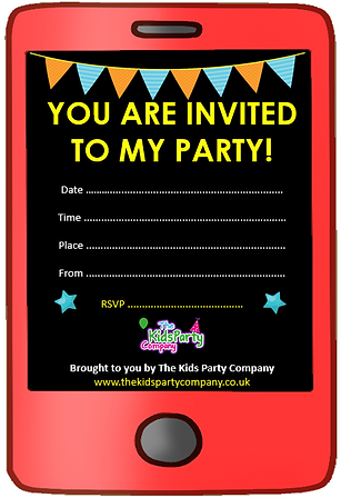 kids childrens boys girls birthday party invitation