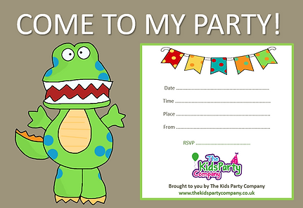 kids childrens boys birthday party invitation