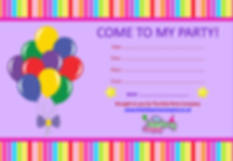 kids childrens girls birthday party invitation