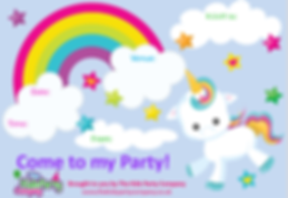 kids childrens girls birthday party invitation