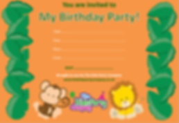 kids childrens boys girls toddler birthday party invitation
