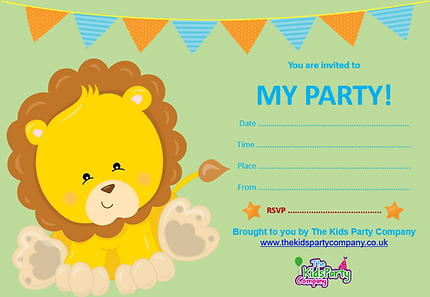 kids childrens baby toddler birthday party invitation