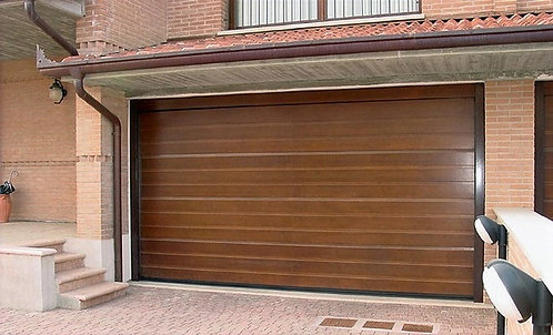 Up to 2250mm High - Brown Woodgrain RAL 8014 - L Ribbed