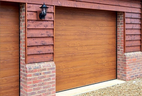Up to 3000mm High - Brown Woodgrain RAL 8014 - S Ribbed