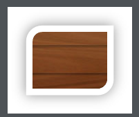 Up to 2000mm High - Woodgrain - Dark Oak - L Ribbed