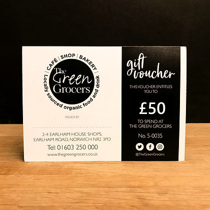 The Green Grocers £50 Gift Card