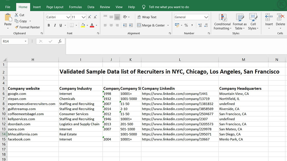 B2B Prospecting, Data Lists, Hiring, Event Marketing, Product Marketing