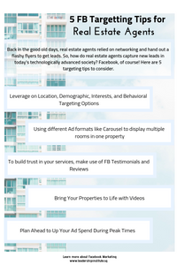 Facebook targetting tips for real estate agents
