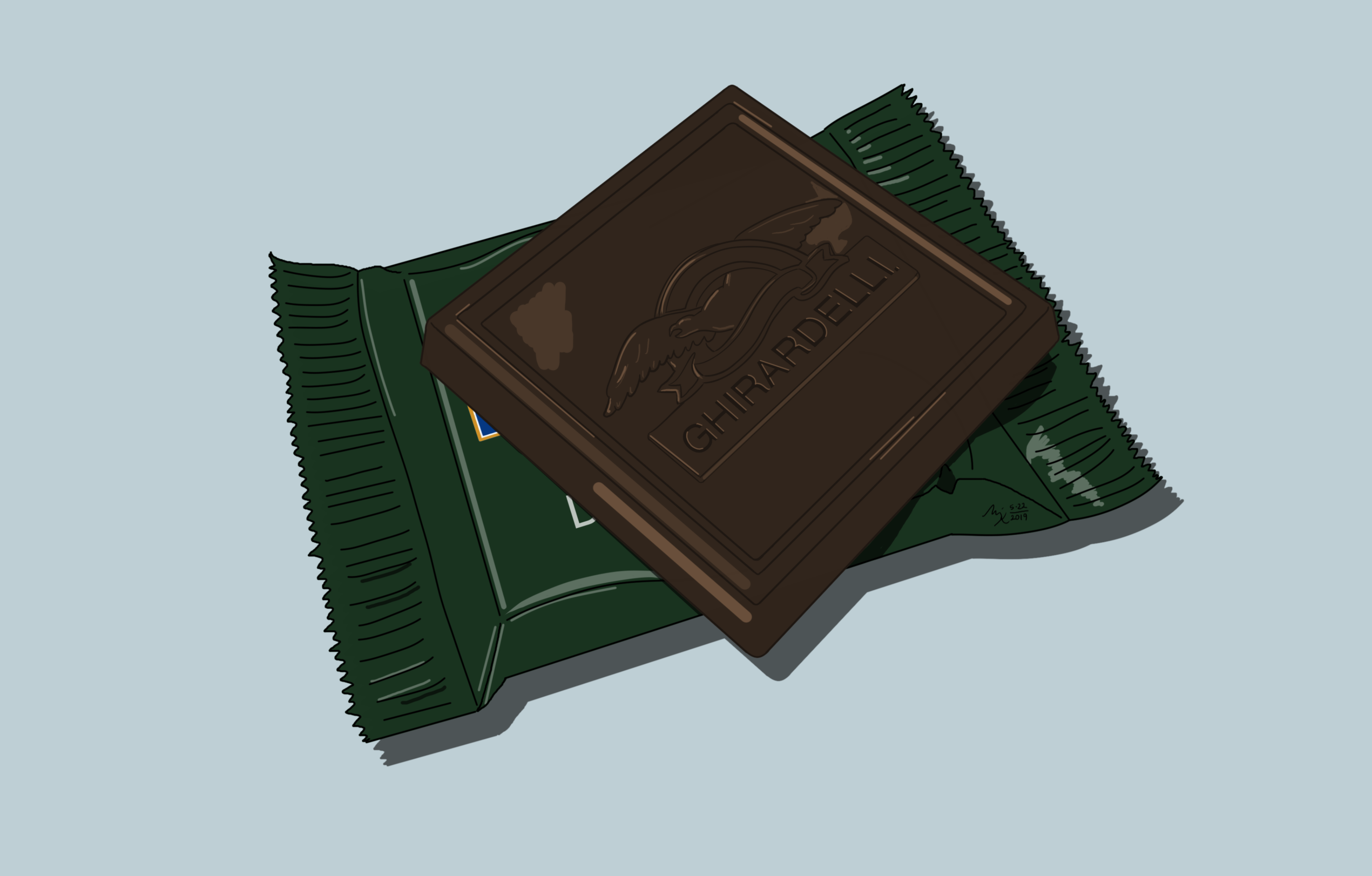 Mint Chocolate Square