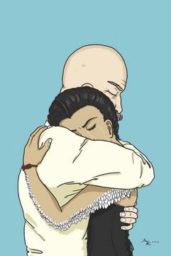 Border and Malaney Hug