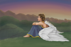 Angel on a Hill