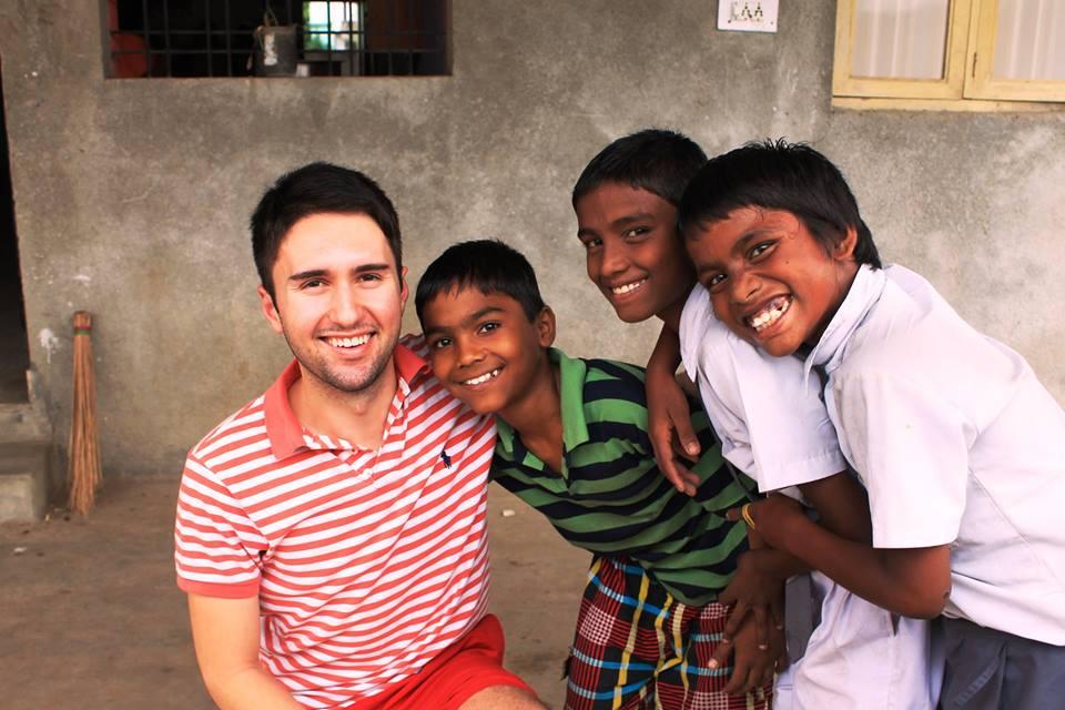 Andrew and boys from Yuva Jyothi