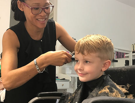 Children's hair cuts are a breeze in the Aphrodite Hair Salon