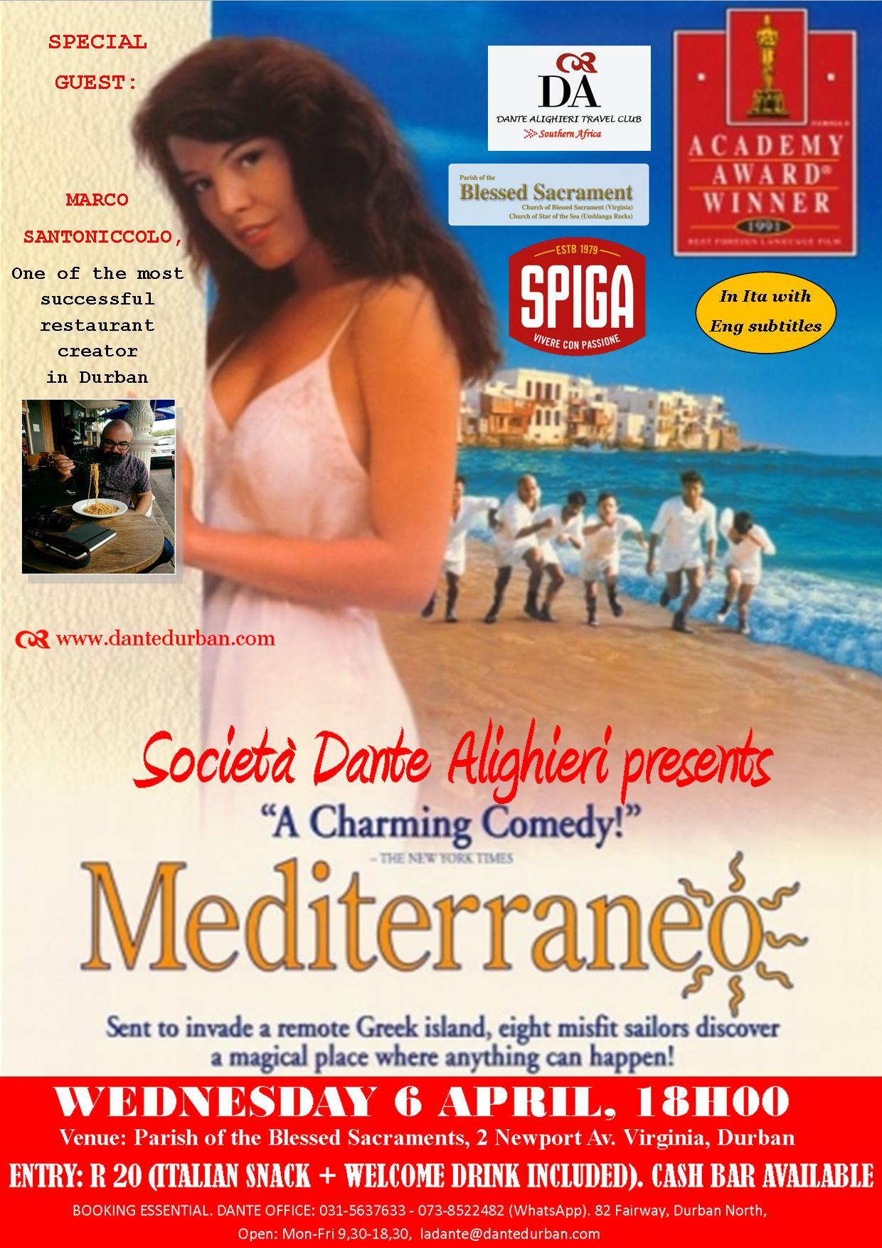 "DANTE MOVIE ""MEDITERRANEO"" , 6 Apr"