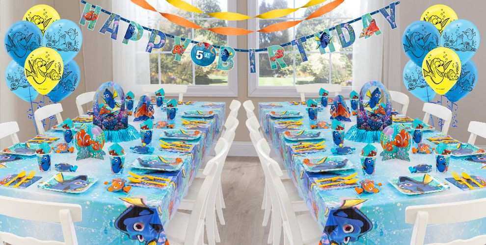Finding Dory Birthday Party Decor