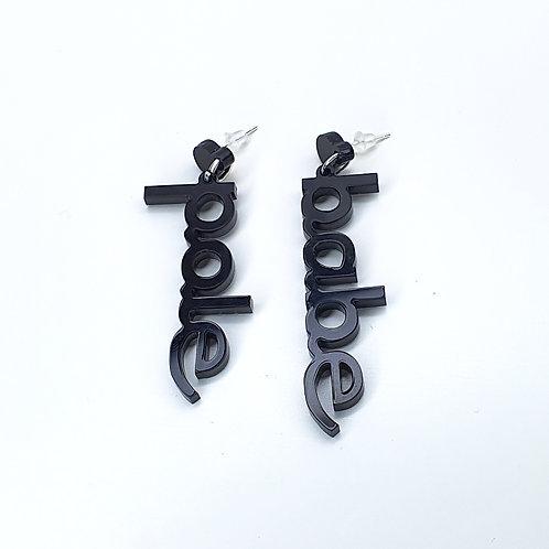 Earrings Pole Babe black