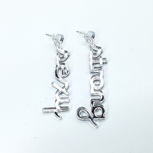 Earrings Sexy Strong Mirror Silver