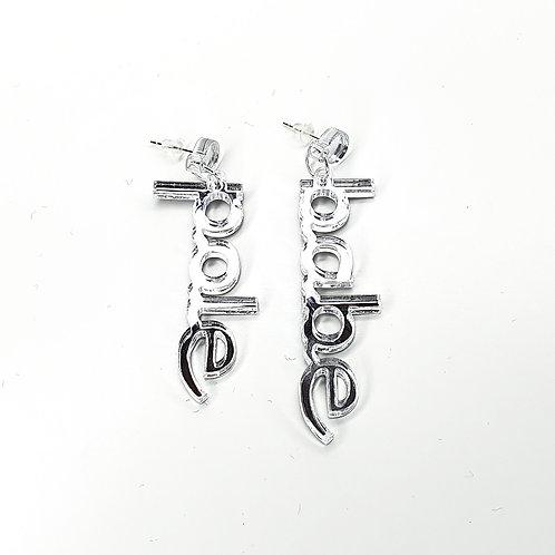 Earrings Pole Babe Mirror Silver