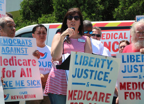 Demonstrators take to streets of Joliet in support of 'Medicare for All'