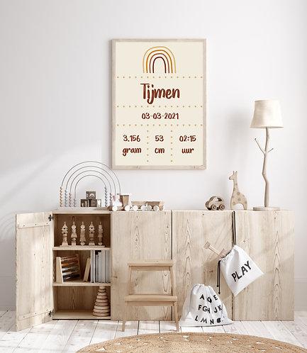 Tijmen geboorte Poster