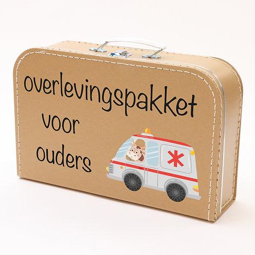 Koffertje met Ouders overlevingspakket