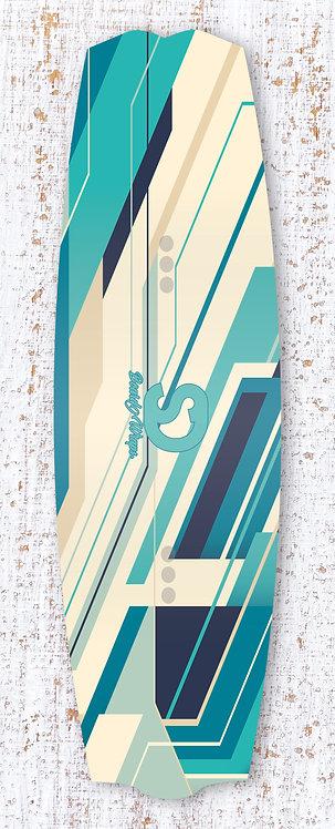 Abstract shaped Wake/Kiteboard wrap