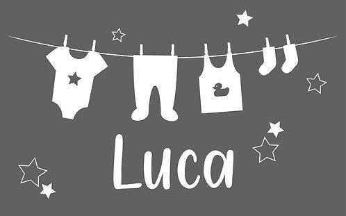 Geboorte raamsticker Luca