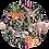 Thumbnail: Jungledieren donker Muurcirkel