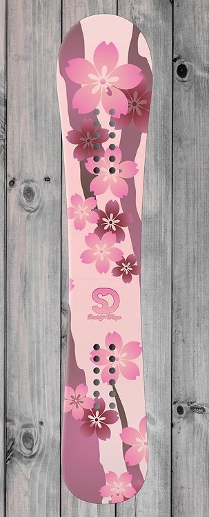 Rose Floral Snowboard wrap