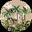 Thumbnail: Jungledieren creme Muurcirkel