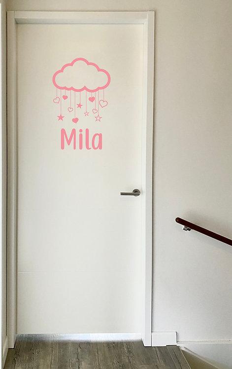 Deursticker Mila