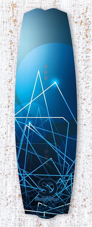 Blue Lighter Wake/Kiteboard wrap