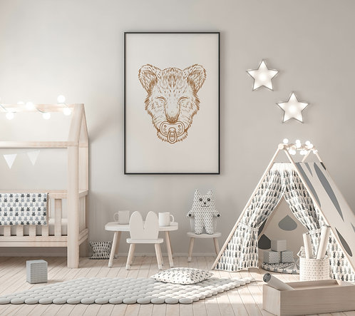 Baby leeuwtje Poster