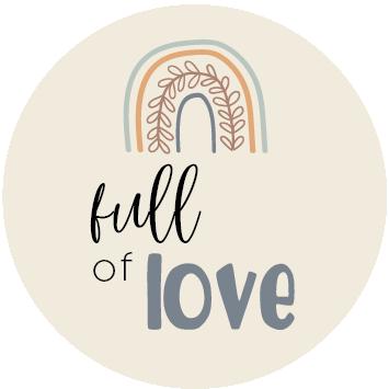Full of Love Blauw sluitzegel