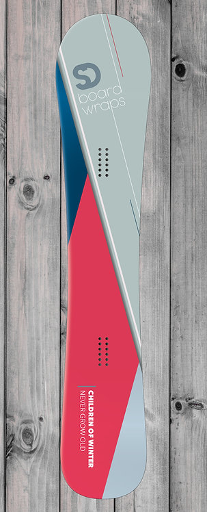 Minimalistic Grey Snowboard wrap
