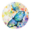 Thumbnail: Vlinder Blauw Muurcirkel