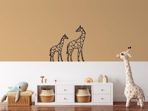 Geometrische Giraffes muursticker