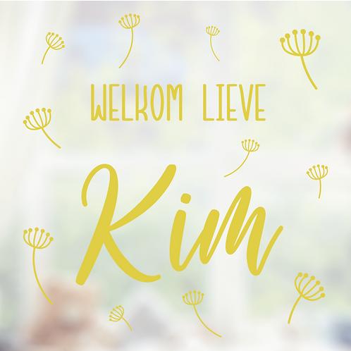 Geboorte raamsticker Kim