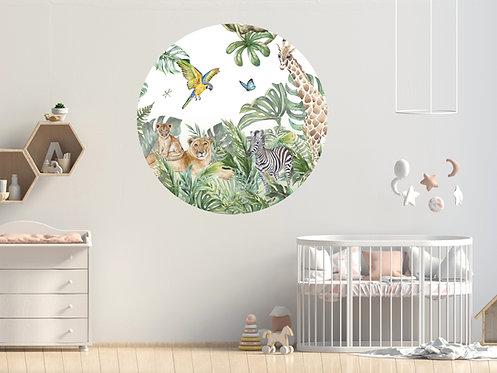 Savanne dieren Muurcirkel