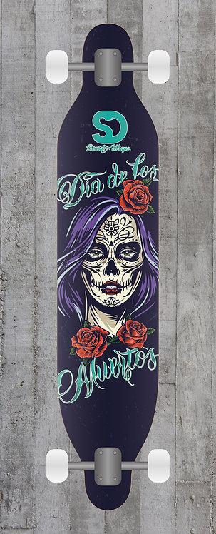 Dia de los Muertos Longboard wrap