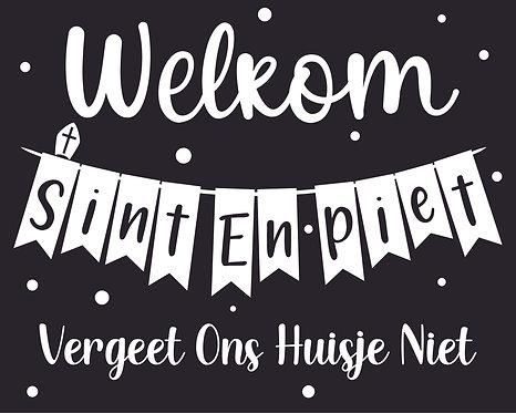 Welkom Sinterklaas raamsticker