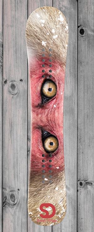 Monkey eyes Snowboard wrap