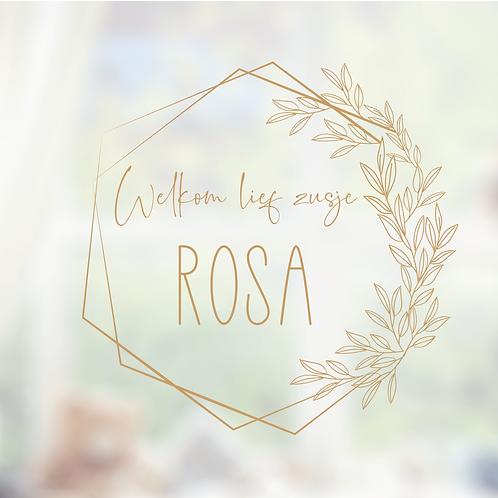Raamsticker Rosa