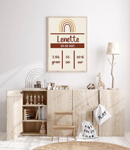 Lenette geboorte Poster