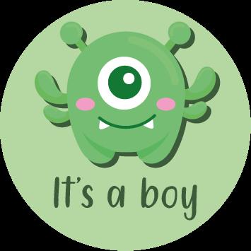 Groene Monstertje sluitzegel